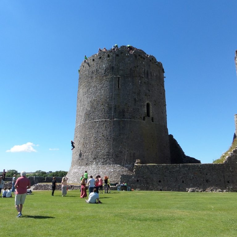 Charity Abseil at Pembroke Castle